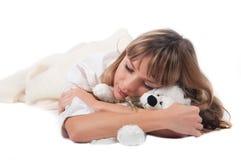 Frauenschlafen Lizenzfreie Stockbilder