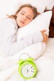 Frauenschlafen Stockfoto