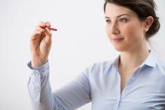 Frauenschreiben Lizenzfreie Stockfotos