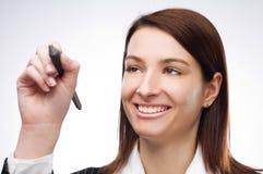Frauenschreiben lizenzfreies stockbild
