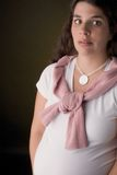 Frauenschwangeres erschrocken Stockbilder