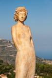 Frauenskulptur, Eze, Frankreich Stockbild
