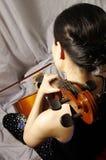 Frauenspiel-Cello Stockfotografie
