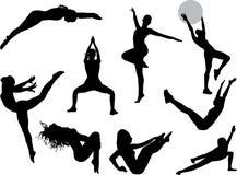 Frauensportabbildungen Stockbild