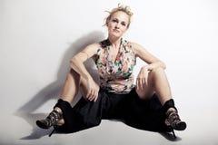 Frauenstudio-Zauberfoto Lizenzfreie Stockfotografie