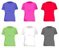 Frauent-shirts lizenzfreie abbildung