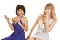 Frauentabellenshow nicht sicher lizenzfreie stockfotos