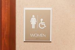 Frauentoilettenzeichen Lizenzfreies Stockfoto
