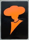 Frauentoilettenzeichen groß Stockfoto