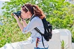 Frauentourist Lizenzfreie Stockfotos