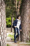 Frauenträume im Stadtpark Stockfotos