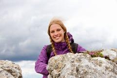 Frauenwandern Stockfotografie