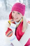 Frauenwinter potrait Lizenzfreie Stockfotos