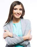 Frauenzahnlächeln stockfoto