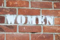 Frauenzeichen Stockfotografie