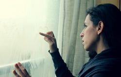 Frauenzeichnungsherz Lizenzfreie Stockbilder