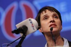 Frauke Petry, der deutschen rechten Partei AFD Lizenzfreies Stockbild