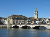 Fraumuenster and old bridge Royalty Free Stock Photography
