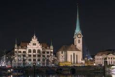Fraumunster教会,苏黎世 免版税库存照片
