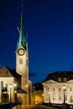 Fraumunster Church in Zurich Royalty Free Stock Photos