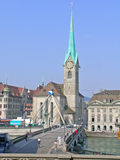 Fraumunster church in Zurich Stock Photo