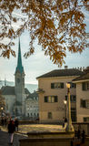 Fraumunster church, Zurich Royalty Free Stock Image
