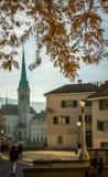 Fraumunster kościół, Zurich obraz royalty free