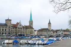 Fraumunster And St. Peter Kirche Of Zurich Royalty Free Stock Photo