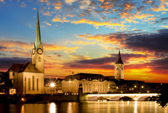 Fraumunster - Zurich Royaltyfria Bilder