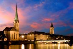 Fraumunster, Zurich - Zdjęcie Stock