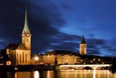 Fraumunster - Zurich Stock Photo