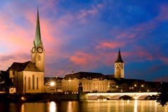 Fraumunster - Zurigo Fotografia Stock