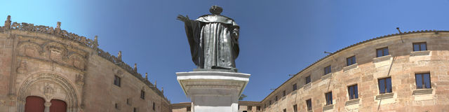 Fray Luis Statue panoramic Stock Photos