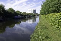 Fray`s River - Uxbridge, Middlesex, United Kingdom. Fray`s River in Uxbridge, Middlesex, United Kingdom Stock Image