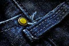Frayed Denim Pants Button Stock Image