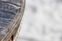 The frayed edge of a wooden table Stock Photography