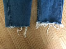 Frayed blue jean Royalty Free Stock Image
