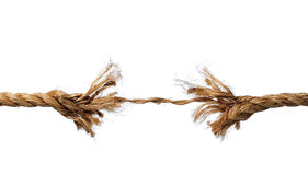Frayed Rope About To Break Royalty Free Stock Photo