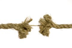 Frayed rope about to break Stock Photography