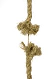 Frayed rope about to break Royalty Free Stock Photos