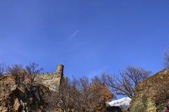 Frazione di Ussel di Chatillon, ` Aosta, Italia di Valle d 11 febbraio 2018 Fotografia Stock Libera da Diritti