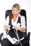 Frazzled businesswoman Royalty Free Stock Photo