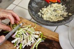 Förbereda ingrediensen Royaltyfria Bilder