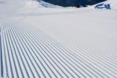 Förberett snowcatspår Royaltyfri Foto