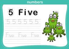 Förbindande prick och tryckbar nummerövning Royaltyfri Bild