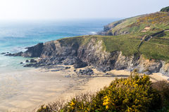 Polurrian Cove Cornwall Royaltyfri Foto