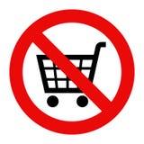 Förbjudet tecken med vagnssymbolen Arkivbild