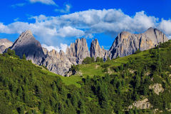 Förbluffa Alp Mountains Royaltyfria Bilder