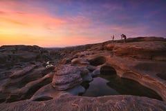 förbluffa mekong flodrock Royaltyfria Bilder