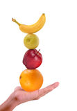 Früchte in der Hand Lizenzfreies Stockfoto